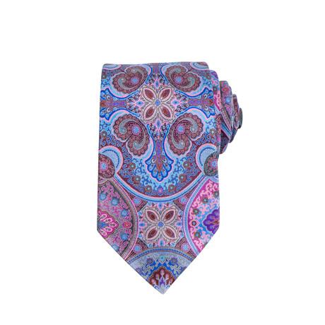 Ermenegildo Zegna // Quindici 15 Silk Neck Tie // Blue + Pink + Red