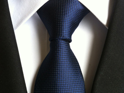 St Lynn Sophisticated Silk Ties Hand Made Tie // Dark Navy by Touch Of Modern - Denver Outlet
