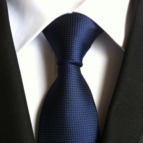 Handmade Silk Tie // Dark Navy
