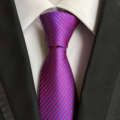 Limon Tie // Magenta Purple Stripe