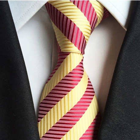 Franklin Silk Tie // Maroon + Yellow