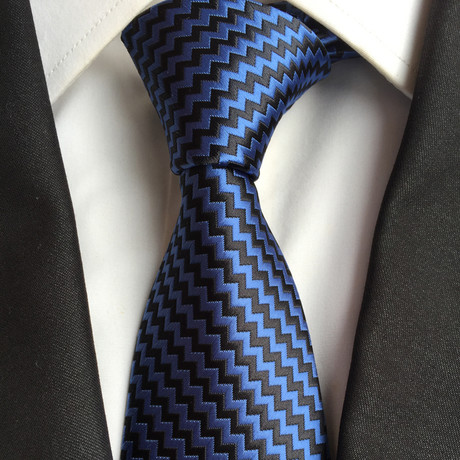 Rondo Silk Tie // Navy Design