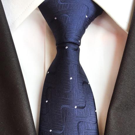 Grant Tie // Navy Dot