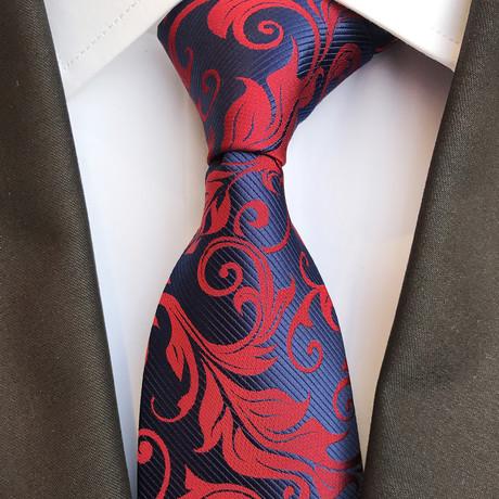 Fischer Tie // Navy + Red