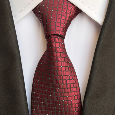 Herschel Design Silk Tie // Dark Red
