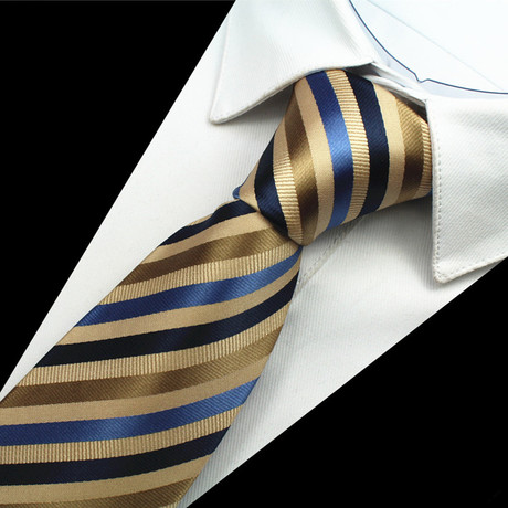 Brokerick Tie // Brown + Blue