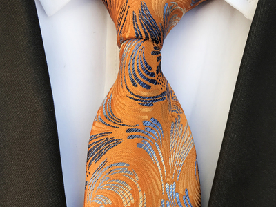 St Lynn Sophisticated Silk Ties Benjamin Design Tie // Orange Copper by Touch Of Modern - Denver Outlet