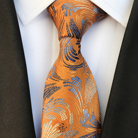 Benjamin Design Silk Tie // Orange Copper