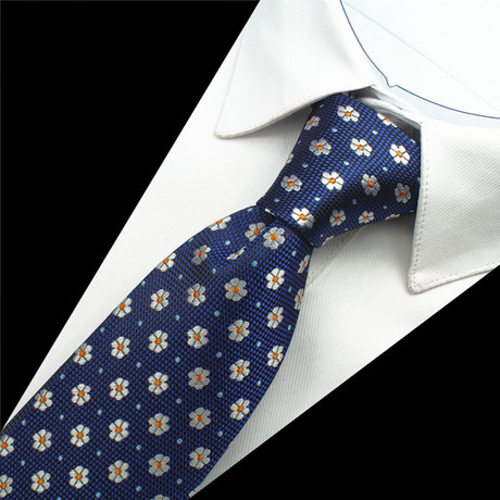 Moser Silk Tie // Blue + Cream