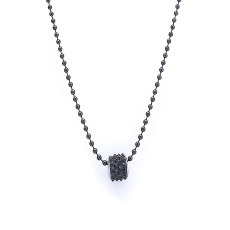 Swarovski Spiked Necklace // Black