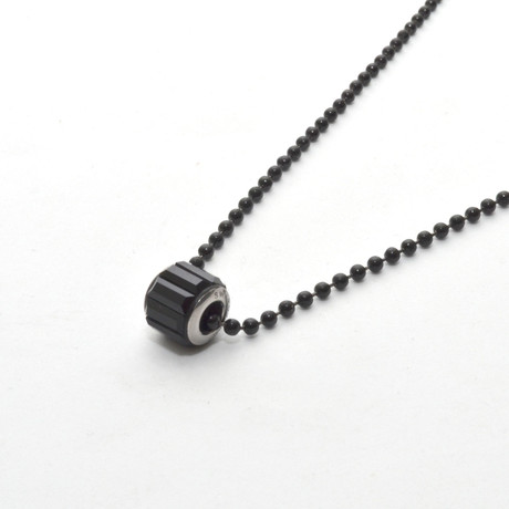 Swarovski Pave Necklace // Black