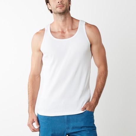 Federigo Jersey Knit Tank // White