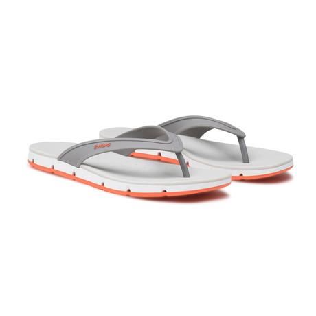 Breeze Thong Sandal // Gray + White + Orange