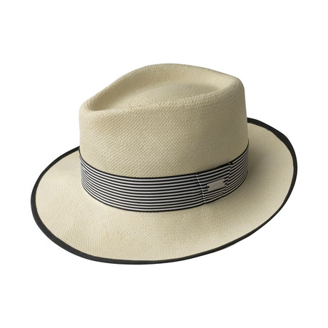 Stripe Barclay Trilby // Natural (S)
