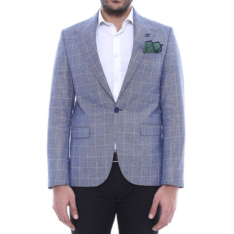 Albert Slim Fit Blazer // Slate Blue (Euro: 44)