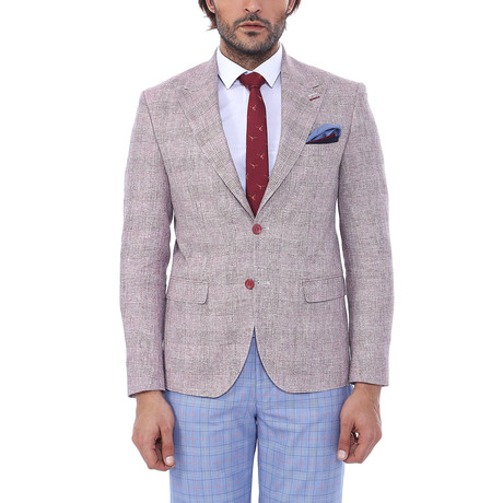 Greg Slim Fit Blazer // Dusty Rose (Euro: 52)