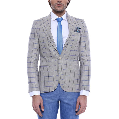 Leon Slim Fit Blazer // Gray (Euro: 44)