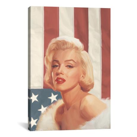 True Blue Marilyn In Flag // Chris Consani