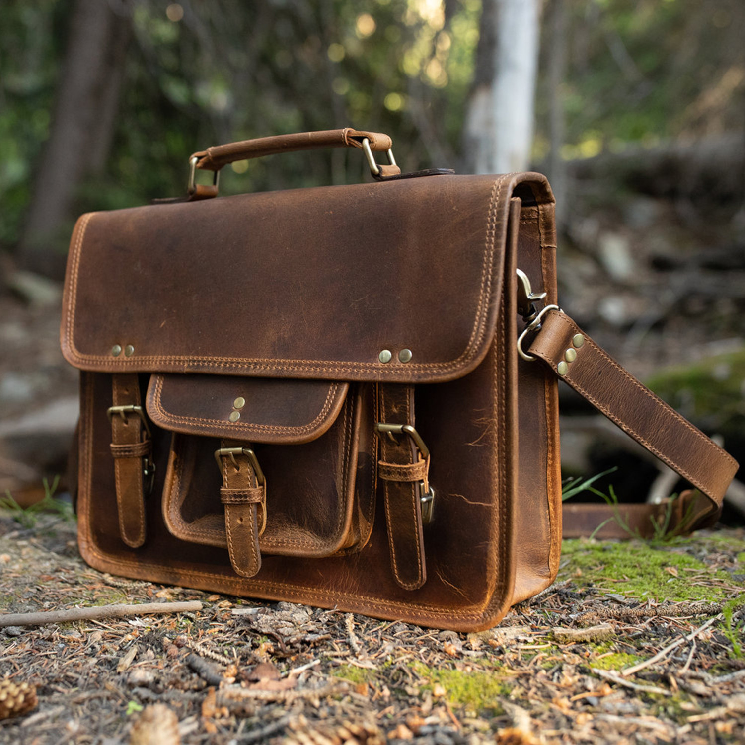 Buffalo Leather Satchel Kodiak Leather Permanent Store