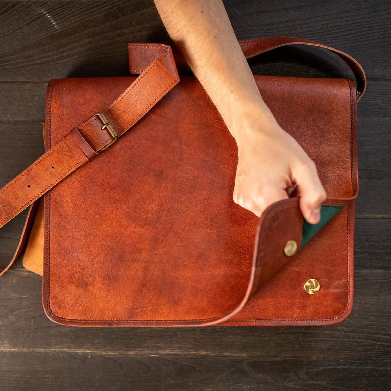 Kodiak Leather Messenger Kodiak Leather Touch Of Modern