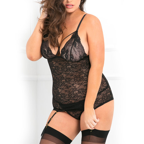 Lace Time Garter Chemise Set