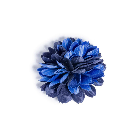 Navy Blue Lapel Flower // 1.5″
