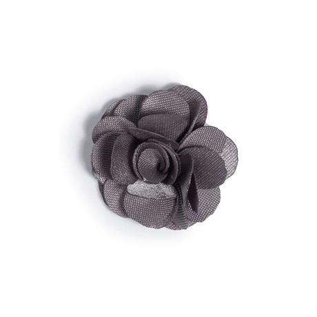 Gray Lapel Flower // 1″