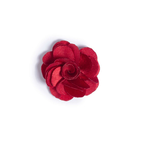 Red Lapel Flower // 1″