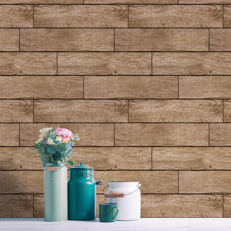 Wood Planks Light Chestnut // Self-Adhesive Wallpaper