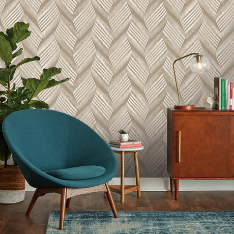 Wave Almond // Self-Adhesive Wallpaper