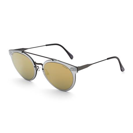 Duo Lens Giaguaro Sunglasses // Gold + Silver