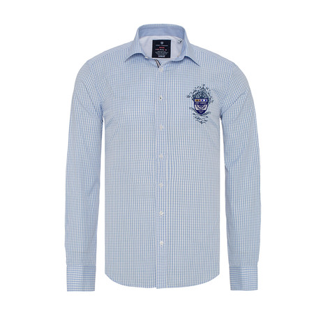 Jared Button-Up Shirt // Blue