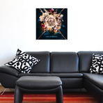 """Skull And Roses (18""""W x 18""""H x 0.75""""D)"""