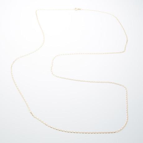 1.8mm Diamond Cut Celestial Chain Necklace