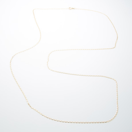 1.8mm Diamond Cut Celestial Chain Necklace