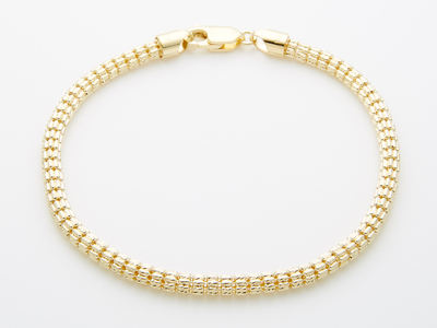Photo of Barzel Classically Cool 10k Gold Chains 4mm Cylandro Bracelet // 8.5 Inch by Touch Of Modern