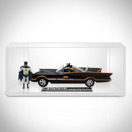 Batman // Adam West Signed 1966 Batmobile Die-Cast // Custom Display