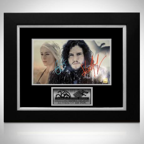 Game Of Thrones // Daenerys + Jon Snow Signed Photo // Custom Frame