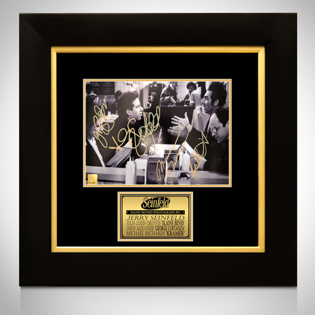 Seinfeld // Seinfeld + George + Elaine + Kramer Signed Photo // Custom Frame