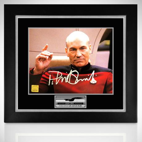Star Trek // Captain Jean-Luc Picard Signed Photo // Custom Frame
