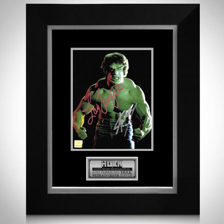 The Incredible Hulk // Lou Ferrigno + Stan Lee Signed Photo // Custom Frame