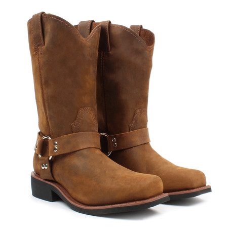 Pull-on Boots with Harness // Brown (US: 5)