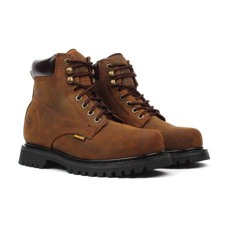 Plain Toe Boots // Brown (US: 5)
