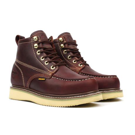 Moc-Toe Boots // Burgundy (US: 5)