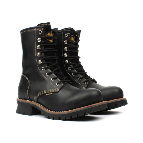 Lace-up Boots // Black (US: 5)