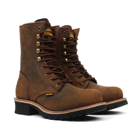 Lace-up Boots // Brown (US: 5)