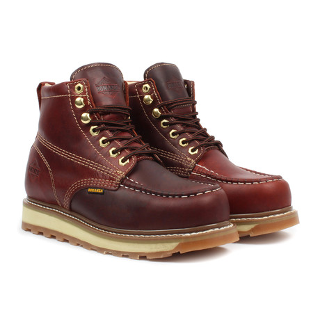 Industrial Moc-Toe Work Boots // Burgundy (US: 5)