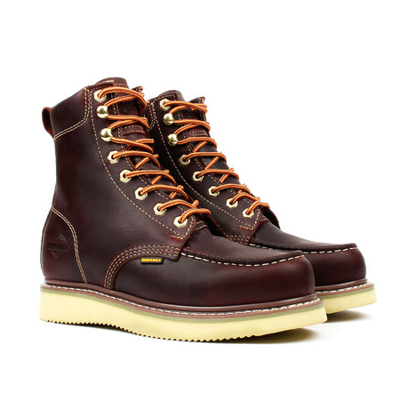 Moc Toe Work Boots // Burgundy (US: 5)