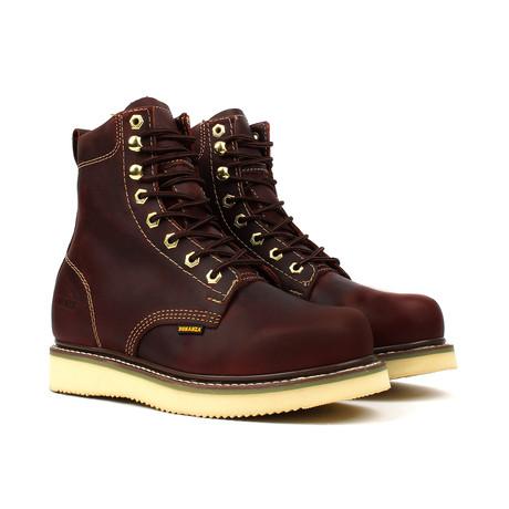 Plain Toe Boots // Burgundy (US: 5)