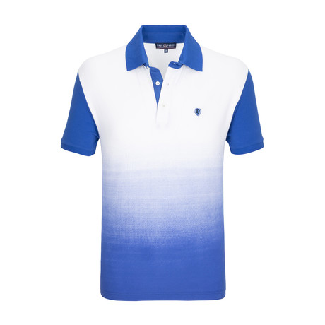 Sands Point Polo Shirt SS // White + Sax